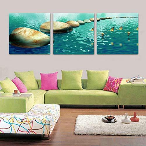GYSS 3 panelen vogel muur kunst schilderijen muur schilderijen voor de woonkamer decoratie huis canvas kunst olie
