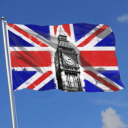 Oaqueen Flagge/Fahne Vintage London Flag Breeze Flag 3 X 5-100% Polyester Single Layer Translucent Flags 90 X 150CM - Banner 3' X 5' Ft