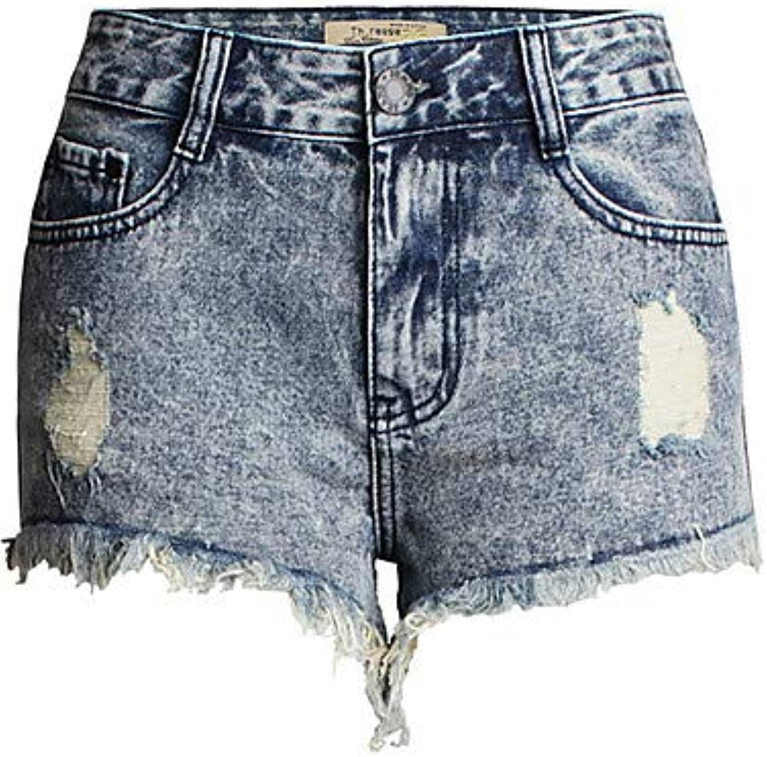 Women's Jeans Shorts Pants  Solid colord High Waist Going Out