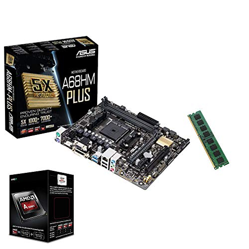 Aufruest PC Bundle Fuer Office/Multimedia/Gaming mit 3 Jahren Garantie! - AMD Quad-Core A10-9700 Pro 4 x 3.8GHz - 8GB DDR4 RAM - ASUS A68HM-PLUS Mainboard - USB 3.0 - HDMI - VGA - DVI