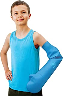 Bloccs Waterproof Cover for Plaster Cast Arm, Swim, Shower & Bathe. Watertight Protector, Child Large Full Arm
