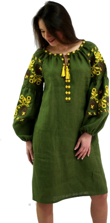 Boho Style Ukrainian Embroidered Mini Dress Bohemian Style
