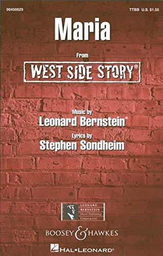 West Side Story: Maria. Männerchor (TTBB) und Klavier. Chorpartitur.