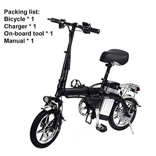 Goodtimera Faltbares E-Bike, 48V 350W Elektrofahrräder, 12A Lithium Batterie Mountainbike, 14 Zoll Große Kapazität Pedelec Mit Lithium-Akku Und Ladegerät