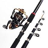 MIAO pesca Rod, Super duro varillas de fibra de vidrio long Shot Anchor mar Rod Set, 2.4m