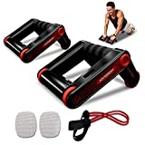 HARISON AB Roller Wheel Push up Bars Core Strength Abdominal...