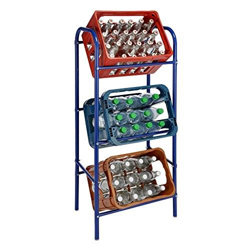 Flaschenkastenständer Getränkekistenständer Kastenständer Getränkekistenregal für 3 Kisten