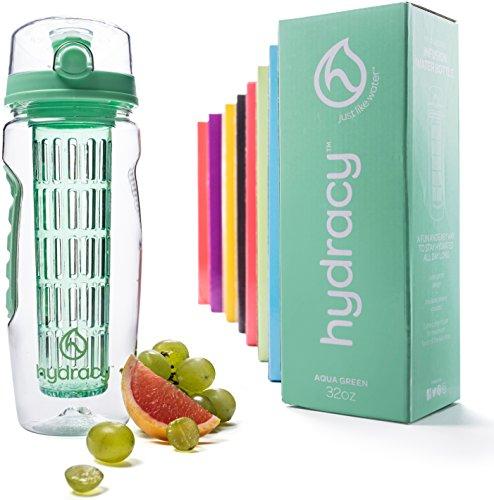 Hydracy Fruit Infuser Water Bottle - 1Litre Sport Bottle with Full...