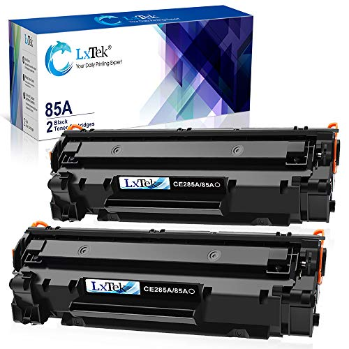 LxTek Compatible Toner Cartridge Replacement for HP 85A CE285A to use with Laserjet Pro P1102W Laserjet Pro P1109W M1212NF Printer (Black, 2-Pack)