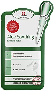 Leaders Insolution Aloe Soothing Renewal Mask - 1 Box of 10 Sheets