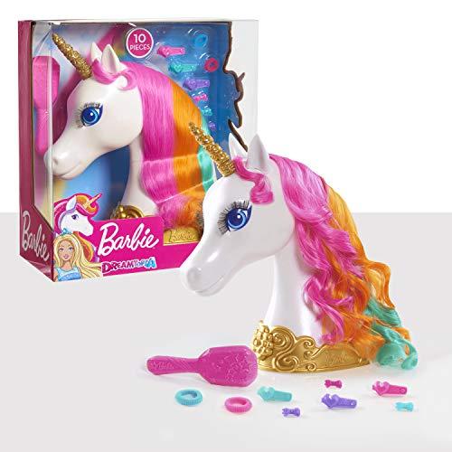 JP Barbie 62861 Barbie Dreamtopia Unicorn Head Einhorn-Styling-Kopf, Mehrfarbig, 13.3 x 27.3 x 30.5...