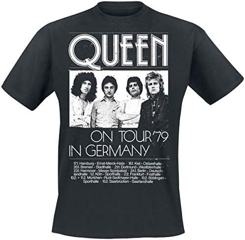 Queen Germany Tour 79 Camiseta Negro