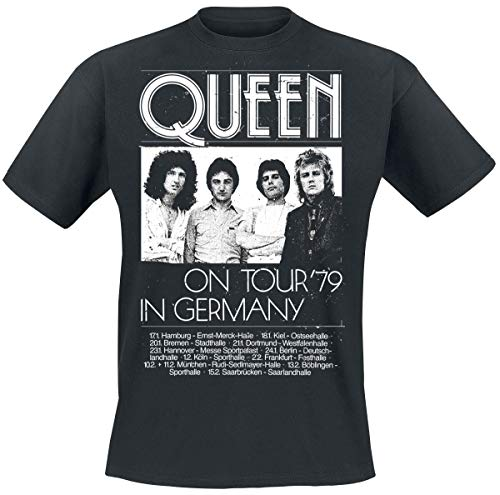 Queen Germany Tour 79 Männer T-Shirt schwarz M 100% Baumwolle Band-Merch, Bands