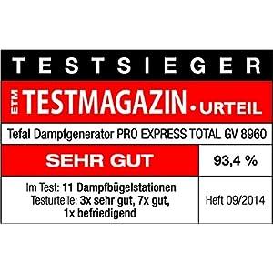 Tefal GV8960 Pro Express Total Dampfbügelstation, 2.200W, Bügelstation, Autoclean Bügelsohle, Antikalk Kollektor