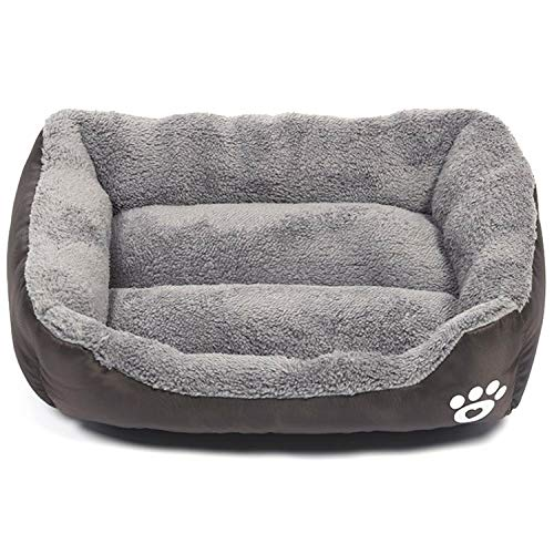 Modern Ultra Soft Warm Pet Bed Puppy Dog Mat Pad Cat Sleeping Cushion Suits for Daily Use Large: 27'x21'x6' (69x53x15cm), Brown