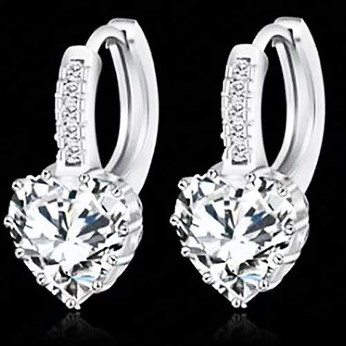 Doyime Jewelry Ladies Fashion Elegant Silver Plated Austrian Crystal Drop Earings for Women