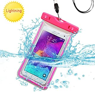 Alcatel One Touch Fierce XL Case, One Touch Fierce XL Waterproof Bag by iViva For Waterproof dirt proof snow proof for boating kayaking swimming hiking (Waterproof Hot Pink)