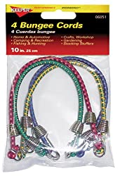 Image: Keeper 06051 10 inch Bungee Cord - Pack of 4 - Maximum tensioning with minimum force