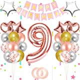 Bola ,Cumpleaños azul,Globos azules metalizados,Globo gigante de aluminio,globos de papel de feliz cumpleaños,Decoración feliz cumpleaños número,Decoración feliz cumpleaños ,Decoración del número (9)
