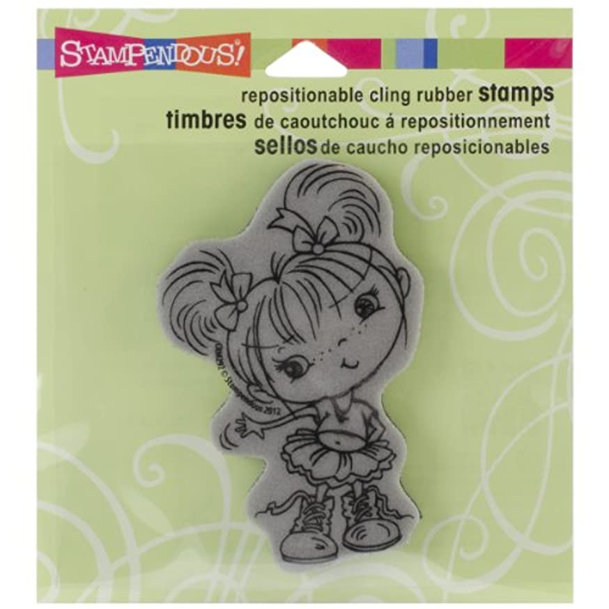 STAMPENDOUS Cling Rubber Stamp, Boots Kiddo Image