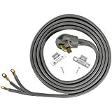 Certified Appliance Accessories 50-Amp Appliance Power Cord, 3 Prong Range Cord, 3 Wires with Eyelet...