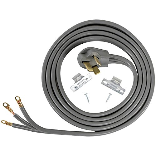 Certified Appliance Accessories 50-Amp Appliance Power Cord, 3 Prong Range Cord, 3 Wires with Eyelet Connectors, 10 Feet, Copper Wire