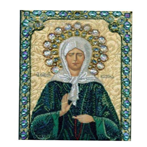 5D Pintura de Bordado de Punto de Cruz de Diamante de Lona, para Decoración Interior de Casa Cafetería - Virgen María