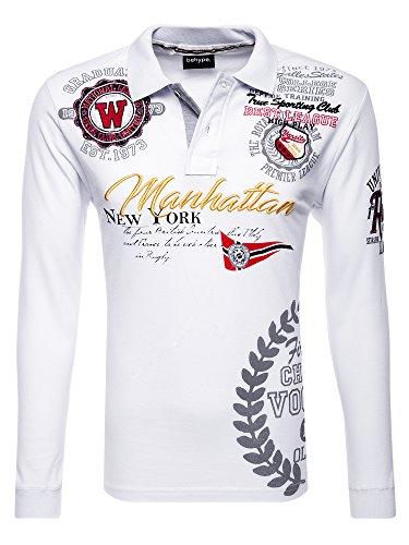 behype. Poloshirt ROYAL 20-0453 Weiß XXL