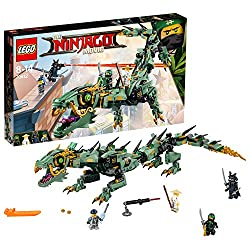 Build your own green ninja much dragon, featuring minifigure cockpit, articulated snapping jaws, posable body, wheel-activated swooshing tail with spikes and two leg-mounted stud shooters Includes four minfigures: Lloyd, master wu, lord garmadon and ...