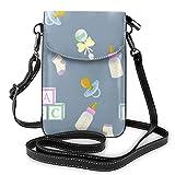 Baby-Milchflasche, kleine Handytasche, hochwertiges Leder, leicht, Umhängetasche, Schultertasche, verstellbarer Riemen für Frauen und Mädchen