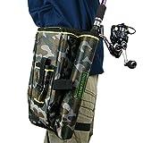 Funda para caña de pescar con mosca, bolsa de almacenamiento para aparejos de pesca, camuflaje, herramientas de pesca, multifunción, nailon, riñonera