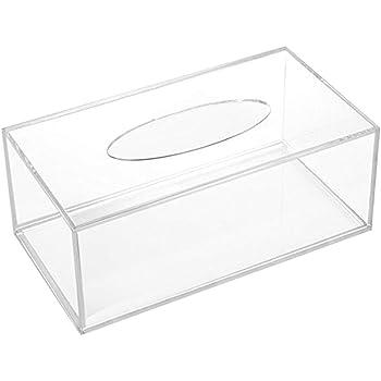 TRIXES Caja Grande de Acrílico Transparente Rectangular para Servilletas Papel de Seda Toallas de Papel: Amazon.es: Hogar
