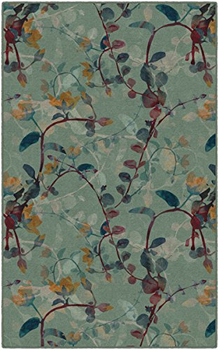 Brumlow MILLS Catalina Fall Green Floral Area Rug for Home Decor, 7'6