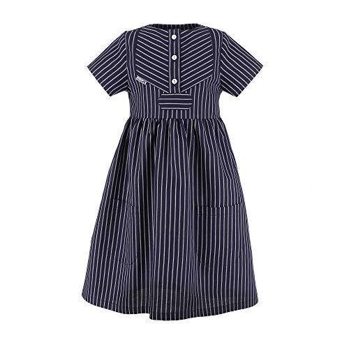 modAS Fischerkleid für Kinder breit gestreift klassischer Stil Größe 116