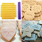 DIY Alphabet Kunststoff Kuchen Form Buchstaben Impress Biscuit Cookie Mould Cutter Press Stempel Embosser Fondant Mold Tools Dc112 siehe abbildung