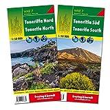 Teneriffa Nord und Süd, Wanderkarten Set 1:50.000 (freytag & berndt Wander-Rad-Freizeitkarten)