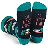 Funny Nerd Socks - Gift For Teachers, Students, Book Lovers, Math, Science Geeks (Reading)