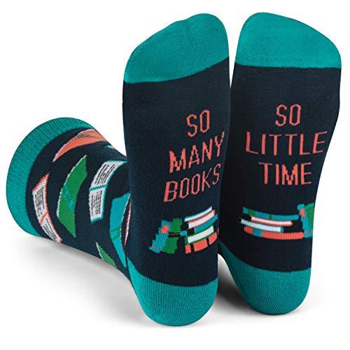 Lavley Nerd Socks - Cool Socks for Men and Women - Funny Gift for Geeks (Books, Math, Science) (Books) Georgia