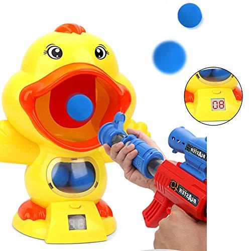 Further Shoot Duck, Hungry Duck Feeding Game, Digital LCD Display Duck Shooting Game Toy Jeu De Tir en Salle Score Win Toy with 12 Soft Balls Cadeau pour Garçons Et Filles De 6 Ans