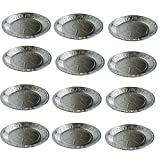 Mogzank Bandejas Redondas Desechables de Papel de Aluminio de 125 Piezas, Bandeja de Cocina, Disco de Papel de Aluminio para Asar, Hornear, Transportar Alimentos y MáS
