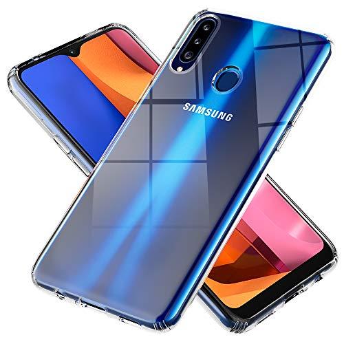 NALIA Klare Schutzhülle kompatibel mit Samsung Galaxy A20s Hülle, Transparentes Kratzfestes Hard Backcover und Silikon Bumper, Durchsichtige Kunststoff Handyhülle Phone Hülle, Schutz Cover Handy-Tasche