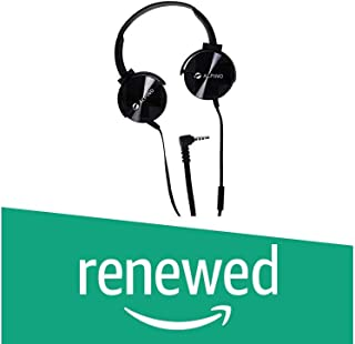(Renewed) Alpino Metalhead Wired On-Ear Stereo Headset with Mic | 3.5 mm Jack Headphone for All Android/iOS Device (Black)