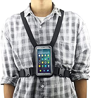 Smartphone Outdoor Chest Strap Mount + Waterproof Case Holder Fits for up to 5.5inch Mobile Phones - Best Cell Phone Chest...