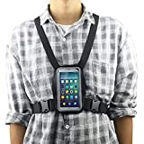 Smartphone Outdoor Chest Strap Mount + Waterproof Case Holder Fits for up to 5.5inch Mobile Phones - Best Cell Phone Chest Harness Mount- Perfect for Outdoor Activities