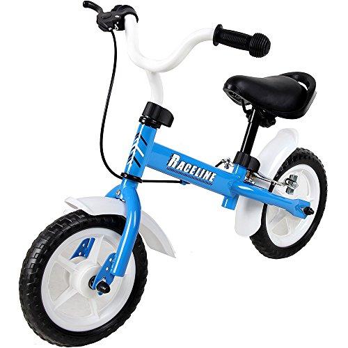 Deuba Bicicleta de Equilibrio 'Easy Raceline' para niños Ruedas 10' con Sillín y Manillar Ajustables sin Pedales Azul