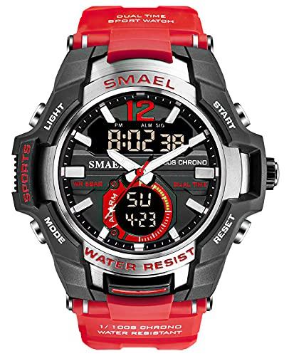 KDM Herren Uhr Army Military Analog Digitaluhr Outdoor Sport Wasserdichter Chronograph Uhren Herren Schwarze LED Elektronische Armbanduhr Mit Stoppuhr Alarm Datum