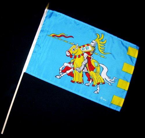 Stock-Flagge 30 x 45 : Ritter blaue Fahne