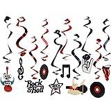 Rock & Roll Theme Party Foil Swirl...