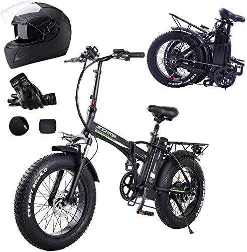 Bicicletas Eléctricas, Bicicleta eléctrica de neumático de grasa de 20 pulgadas 4.0, motor potente 500W, batería extraíble de 48V10AH / 15AH, engranaje de 7 velocidades, tenedor de suspensión Beach Sn