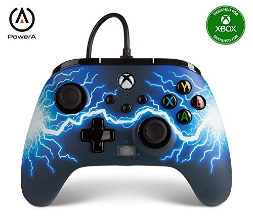 PowerA Enhanced Wired Controller for Xbox Series X|S - Arc Lightning, Gamepad, Wired Video Game Controller, Gaming Controller, Xbox Series X|S - Xbox Series X